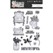 Vintage Girl Clear Stamps - Photoplay