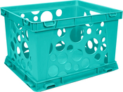 """Teal - Large File Crate 17.25""""X14.25""""X10.5"""""""