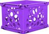Violet - Mini Crate 9 X7.75 X6  This micro version of a storage crate is the perfect organization solution for a crafting surface or desktop. Crates interlock in every direction and feature a solid bottom, keeping components contained. Available in a variety of colors, each sold separately. Contains one 9x6x7.75 inch crate. Imported.
