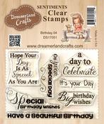 "Birthday 04 - DreamerlandCrafts Clear Stamp Set 3""X4"""