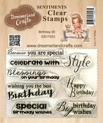 "Birthday 06 - DreamerlandCrafts Clear Stamp Set 3""X4"""