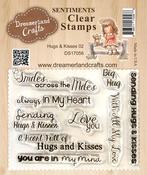 """Hugs & Kisses 02 - DreamerlandCrafts Clear Stamp Set 3""""X4"""""""