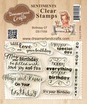 "Birthday 07 - DreamerlandCrafts Clear Stamp Set 3""X4"""