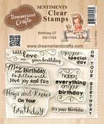 "Birthday 07 - DreamerlandCrafts Clear Stamp Set 3""X4"""