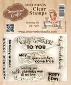 "Birthday 08 - DreamerlandCrafts Clear Stamp Set 3""X4"""