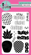 """Aloha Pineapple - Pink & Main Clear Stamps 4""""X6"""""""