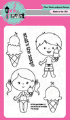 "The Scoop - Pink & Main Clear Stamps 3""X4"""