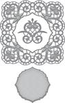 Venise Lace-Isabella Frame - Spellbinders Shapeabilities Dies By Becca Feeken