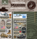 "Marines - U.S. Military Page Kit 12""X12"""