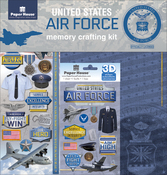 """Airforce - U.S. Military Page Kit 12""""X12"""""""