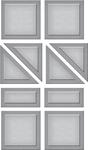 Quilt It-Half Square Triangle Quilt - Spellbinders Shapeabilities Die D-Lites By Lene Lok