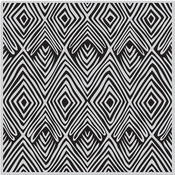 "Tribal Stripes Bold Prints - Hero Arts Cling Stamps 6""X6"""