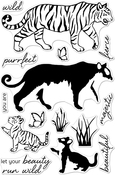 """Color Layering Bengal Tigers - Hero Arts Clear Stamps 4""""X6"""""""