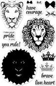 """Color Layering Brave Lion - Hero Arts Clear Stamps 4""""X6"""""""