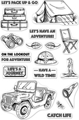 """Go On A Safari - Hero Arts Clear Stamps 4""""X6"""""""