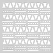 "Tribal Shapes - Hero Arts Stencil 6""X6"""