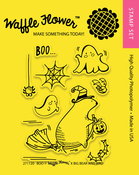 "Boo - Waffle Flower Crafts Clear Stamps 3""X4"""