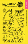 """Tea For Two - Waffle Flower Crafts Clear Stamps 4""""X6"""""""