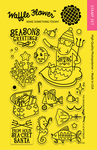 "The SEAson - Waffle Flower Crafts Clear Stamps 4""X6"""