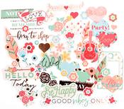 Be Happy - My Prima Planner Ephemera Cardstock Die-Cuts