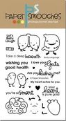 "Body Language - Paper Smooches Clear Stamps 4""X6"""