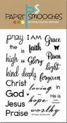"Faith Sampler - Paper Smooches Clear Stamps 4""X6"""