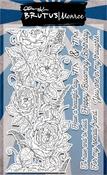 "Sketched Rose Border - Brutus Monroe Clear Stamps 4""X6"""