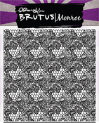 """Heart Lace Background - Brutus Monroe Clear Stamps 5.75""""X5.75"""""""