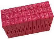 Lowercase Alphabet - Pink & Main Curvy Girl Font Stamp Set 36pcs