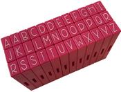 Uppercase Alphabet - Pink & Main Curvy Girl Font Stamp Set 36pcs