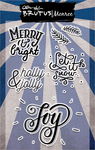 "Merry & Bright - Brutus Monroe Clear Stamps 4""X6"""