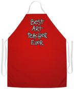Art Teacher - Attitude Artist Apron Red