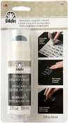 White - FolkArt Liquid Erasable Chalk Carded 2oz