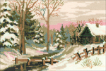 """8.25""""X6"""" 15 Count - Winter Fairy Tale Counted Cross Stitch Kit"""