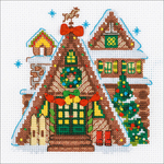 "6""X6"" 14 Count - Winter Cabin Counted Cross Stitch Kit"