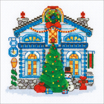 "6""X6"" 14 Count - Ice Cabin Counted Cross Stitch Kit"