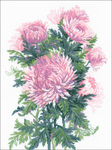 "11.75""X15.75"" 14 Count - Bouquet Of Chrysanthemums Counted Cross Stitch Kit"
