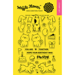 """Pawsome - Waffle Flower Crafts Clear Stamps 4""""X6"""""""