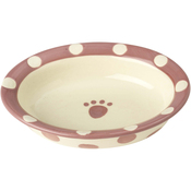 Pink - PetRageous Designs Polka Paws Bowl - Holds 1 Cup