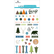 "Outdoors - Paper House Life Organized Epoxy Stickers 6.5""X3.5"""