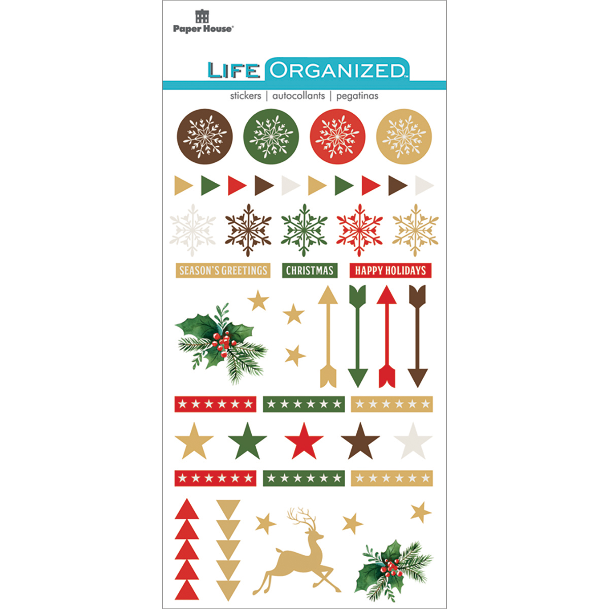Christmas - Paper House Life Organized Epoxy Stickers 6.5