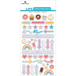 "Kawaii - Paper House Life Organized Epoxy Stickers 6.5""X3.5"""