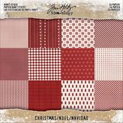 "Christmas Idea-Ology Kraft Stock Cardstock Pad 8""X8"" 24/Pkg"