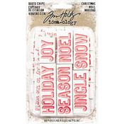Christmas Words & Phrases Idea-Ology Chipboard Quote Chips