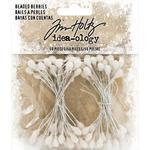 "Idea-Ology Beaded Berry Stems White 2.5"" - PRE ORDER"