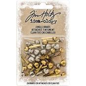 Antique Brass & Nickel Jingle Bells Idea-Ology Brad Fasteners