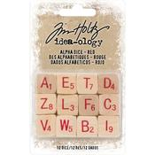 Natural W/Red Idea-Ology Wooden Alpha Dice