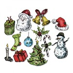 Tattered Christmas Sizzix Framelits Dies By Tim Holtz