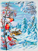 Russian Winter - Collection D'Art Stamped Cross Stitch Kit 49X37cm