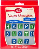 Blue Happy Birthday - Betty Crocker Candy Card